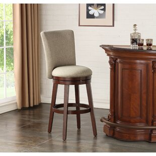 Daly Upholstered 30 Swivel Bar Stool by Charlton Home
