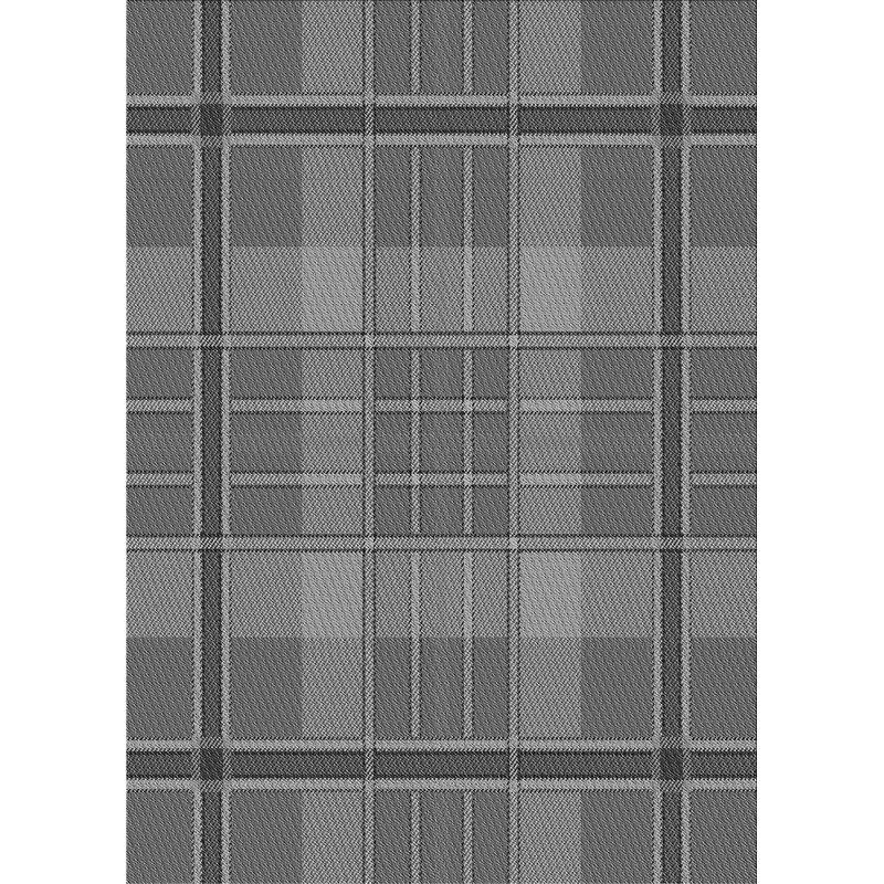 East Urban Home Plaid Wool Gray Area Rug Wayfair