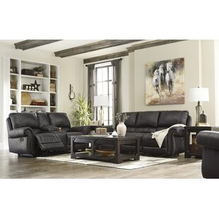 Red Barrel Studio Collier Double Recliner Reclining Sofa with Console