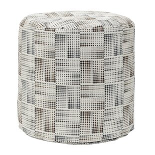 Matrix Charcoal Tapestry Pouf
