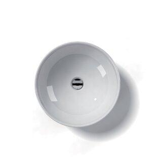 Ceramica Ceramic Circular Vessel Bathroom Sink ByWS Bath Collections
