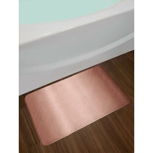 Abstract Dried Rose And Pink Blush Bath Rug