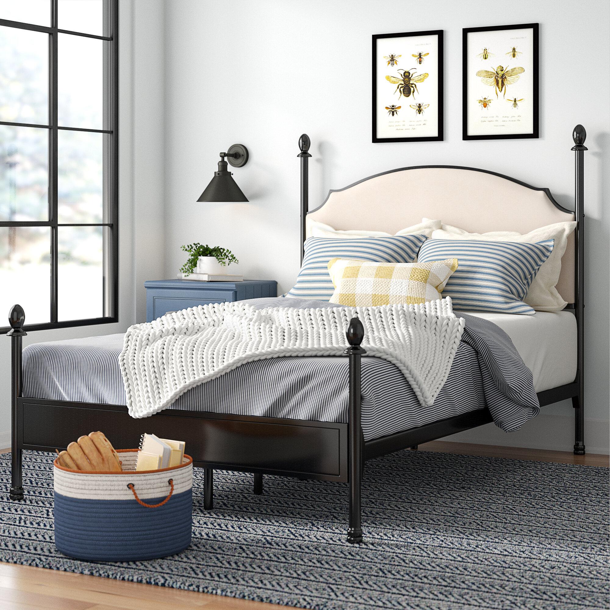 - Laurel Foundry Modern Farmhouse Granite Range Upholstered Canopy