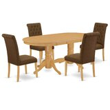 Pande 5 Piece Extendable Solid Wood Dining Set by Winston Porter