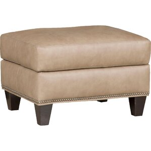 Greco Leather Ottoman by Bradington-Young