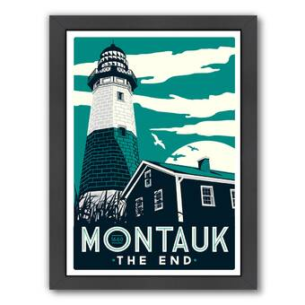 Breakwater Bay Montauk Fish Vintage Advertisement Wayfair