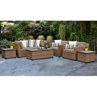 Medina 7 Piece Outdoor Sofa Seating Group with Cushions