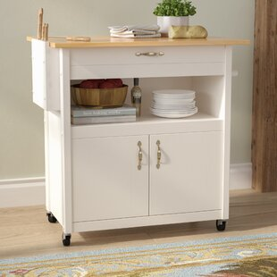 Allie Kitchen Cart with Wood August Grove