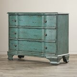 Dominick 3 Drawer Crackle Accent Chest