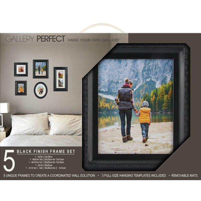 NielsenBainbridge Gallery Solutions 5 Piece Picture Frame Set ...