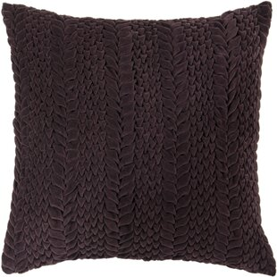 Portalia Textural Eggplant Cotton Pillow Cover