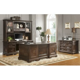 Ockton 3 Piece Desk Office Suite by Canora Grey