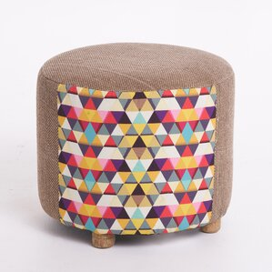 Chancery Mosaic Ottoman by Bungalow Rose