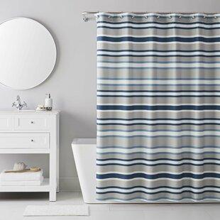 13 Piece Bradley Stripe Shower Curtain Set By IZOD