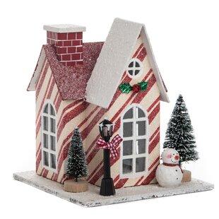small plywood light up christmas house