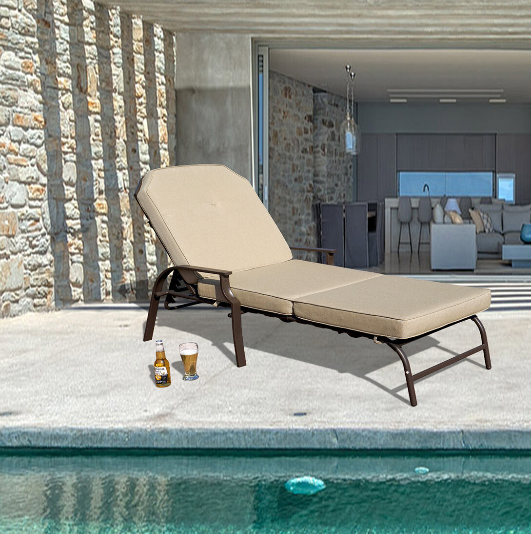 Ebern designs swenson outdoor chaise lounge with cushion reviews wayfair