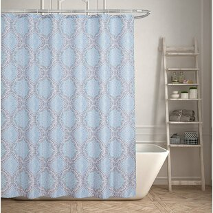 Contemporary Geometric Inspired Single Shower Curtain