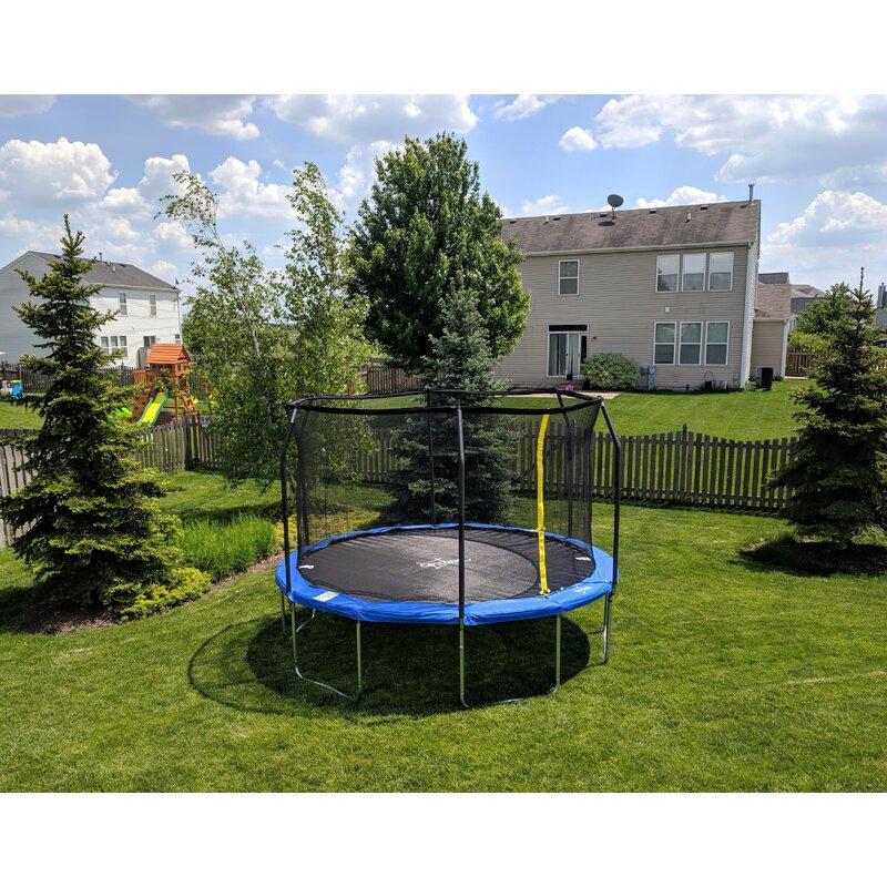 Backyard Jump 12' Round Trampoline with Safety Enclosure