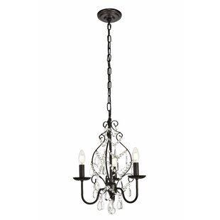 Reviews Archway 3-Light Candle Style Chandelier By House of Hampton