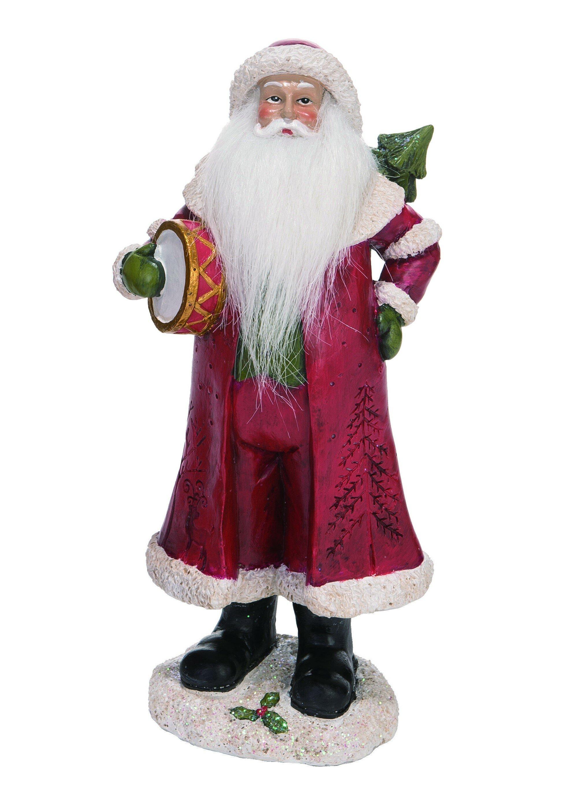 The Holiday Aisle Resin Medium Soft Beard Santa Figurine Wayfair