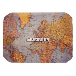 Magnetic world travel map wayfair sylvia cook travel map world placemat gumiabroncs Gallery