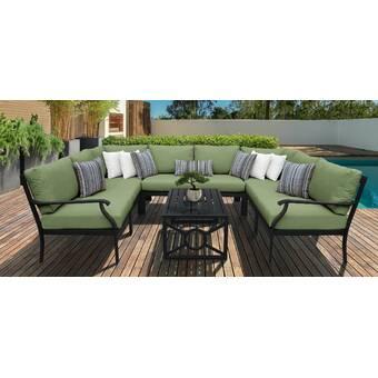 Birch Lane Mackinnon Outdoor Aluminum 5 Piece Sofa Seating Group With Cushions Wayfair