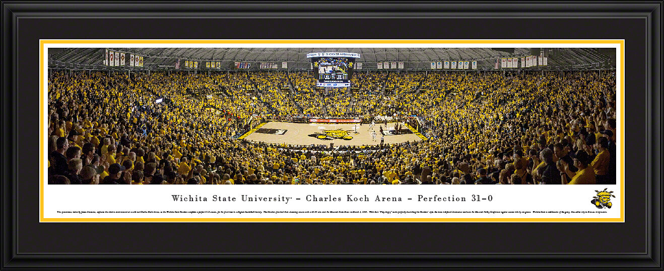 Ncaa Wichita State University Charles Koch Arena By James Simmons Framed Photographic Print