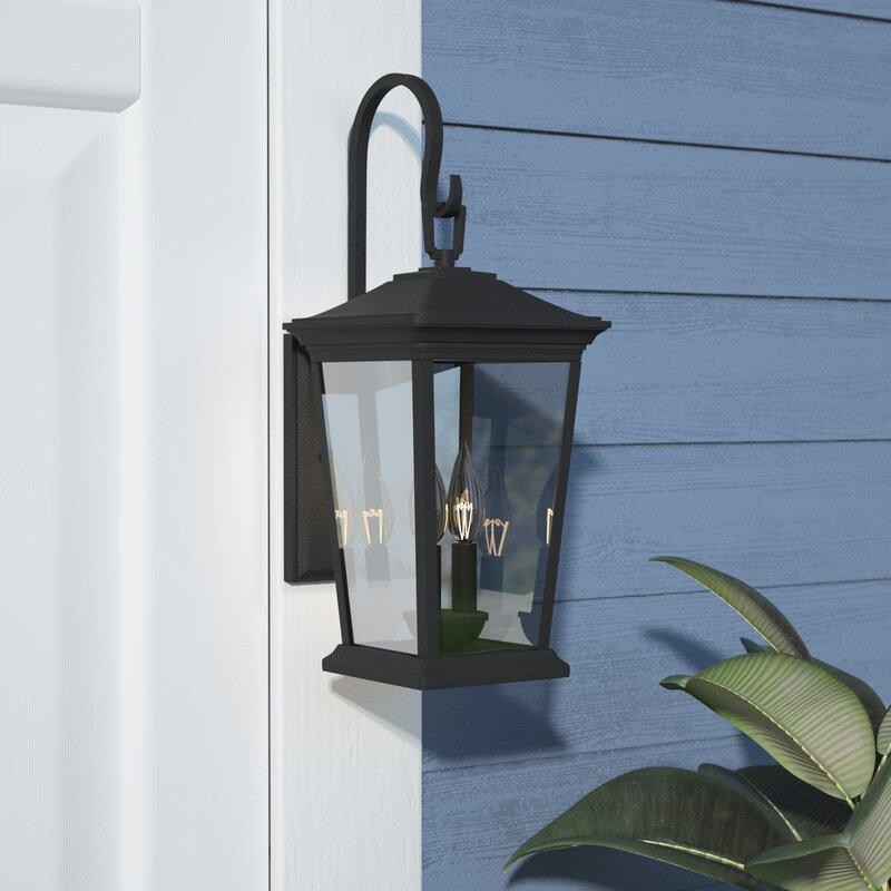 Red Barrel Studio Galenos Museum Black 2 Bulb Outdoor Wall Lantern Reviews Wayfair