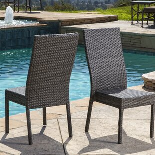 Battista Outdoor Patio Dining Chair (Set of 2)