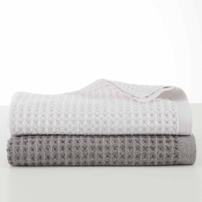 Campanella Flax Waffle Weave Bath Towel