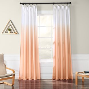 Winterbourne Synthetic Semi-Sheer Rod Pocket Single Curtain Panel