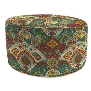 Winston Porter Wills Bead Fill Pouf Ottoman with Cushion