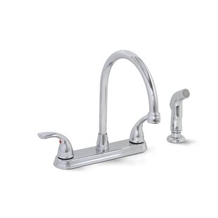 Premier Faucet Bayview Double Handle Kitchen Faucet with Side Spray