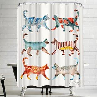 Cat Single Shower Curtain