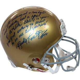 Decorative Rudy Ruettiger Signed Notre Dame Authentic Helmet. by Steiner  Sports 0abec8a5a