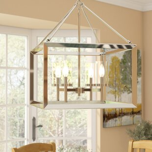 Compare Thorne Modern 4-Light Foyer Pendant By Three Posts