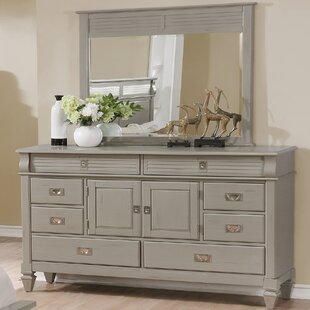 Vasilikos Antique 8 Drawer Combo Dresser with Mirror by Beachcrest Home