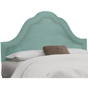 Dunlin Arch Inset Nail Button Upholstered Panel Headboard