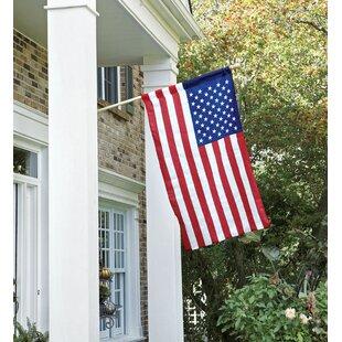 91542c356a56 American 2-Sided Nylon 2.5 x 4 ft. Flag Set