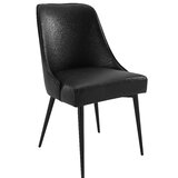 Bridewell Upholstered Side Chair in Black (Set of 2) by Wrought Studio™