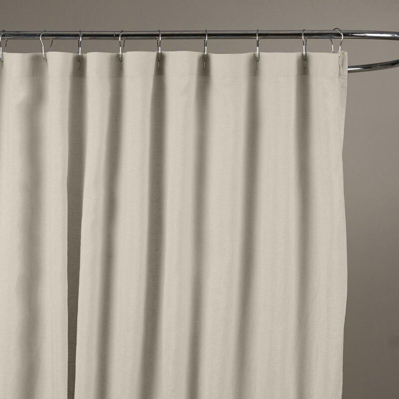 grey linen shower curtain. Reva Belgian Linen Shower Curtain  Reviews Birch Lane