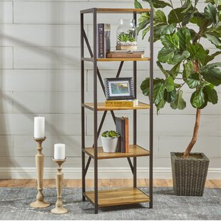 Compare Burville Wood Standard Bookcase by Gracie Oaks