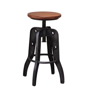 17 Stories Doylestown Adjustable Height Swivel Bar Stool