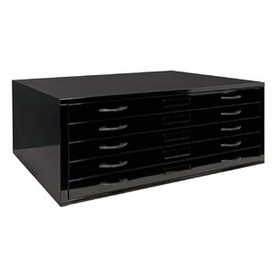 Offex Flat 5-Drawer Lateral Filing Cabinet