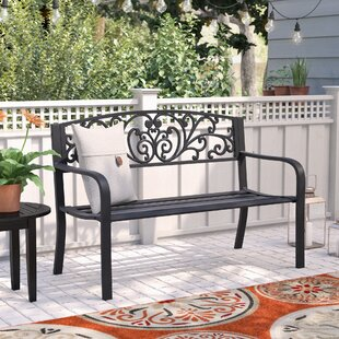 Strasburg Blossoming Decorative Metal Garden Bench by Fleur De Lis Living