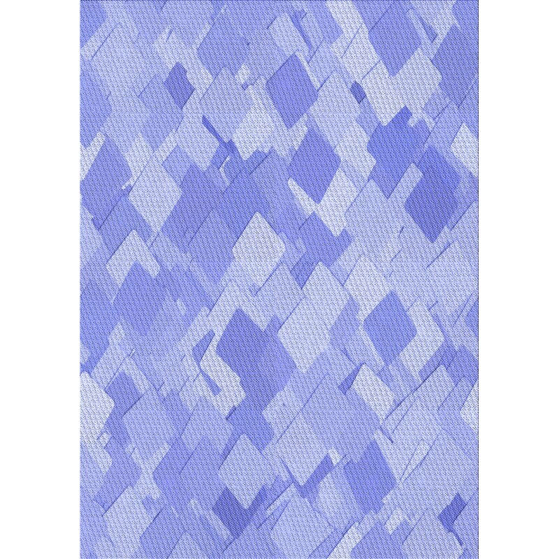East Urban Home Geometric Wool Blue Area Rug Wayfair