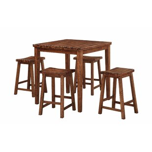 Blanco Point 5 Piece Dining Set Loon Peak