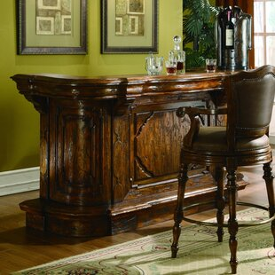 Eastern Legends Burgundy Home Bar with Wine Storage
