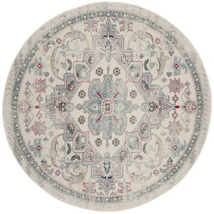 Grieve Ivory/Gray/Pink Area Rug by Bungalow Rose