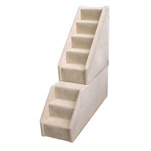 Bear's Stairsu2122 Mini Carpeted 8 Step Pet Stair